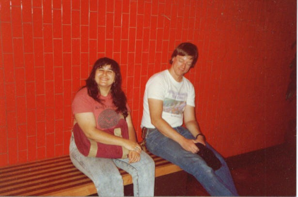Blanche and our friend John around 1984 (plus or minus a couple years)