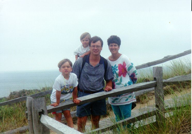 Charles Nonken family at Cape Cod
