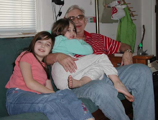 Debbie, Mariel, and Grandpa.